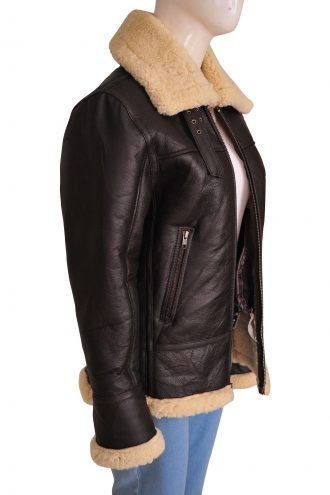 B3 Ladies Bomber Leather Jacket