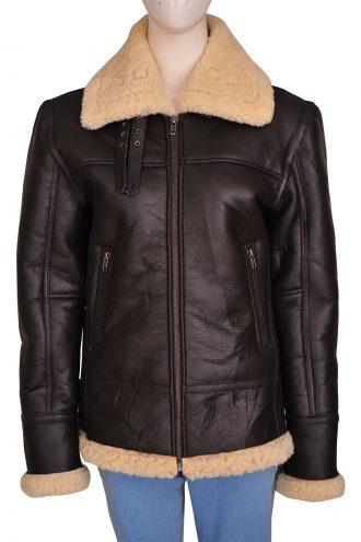 B3 Bomber Sheepskin Women Jacket