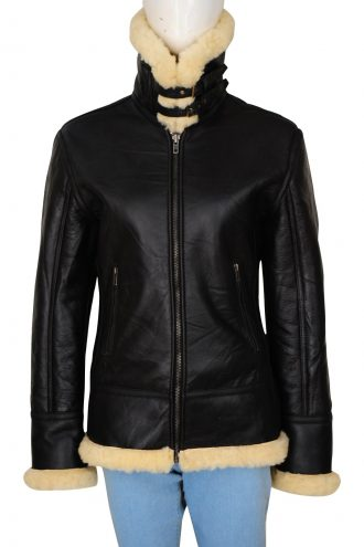 Best B3 Shearling Bomber Leather Jacket For Women