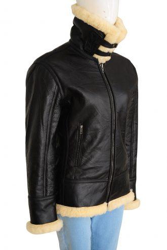 Best Women B3 Shearling Bomber Leather Jacket
