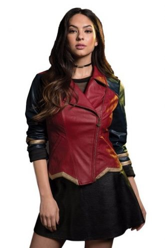 DC Comics Wonder Woman Cosplay Leather Jacket For Women