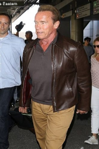 Arnold Alois Schwarzenegger Leather Jacket