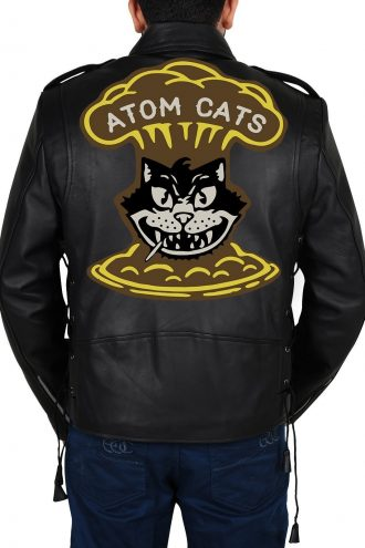 Fallout 4 Atom Cats Biker Black Leather Jacket