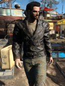 Fallout 4 Atom Cats Black Leather Jacket