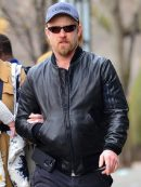 Actor Ben Foster Bomber Leather Jacket
