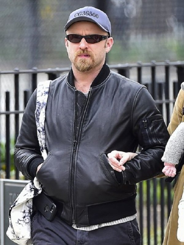 Ben Foster Bomber Leather Jacket
