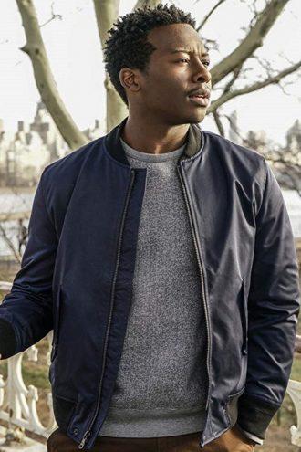 God Friended Me Miles Finer Blue Leather Jacket