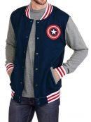 Captain America Shield Logo Varsity Jacket