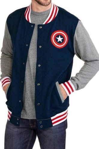 Captain America Shield Logo Varsity Jacket