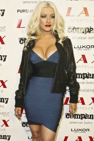 Luxor Lady Christina Aguilera Black Bomber Jacket