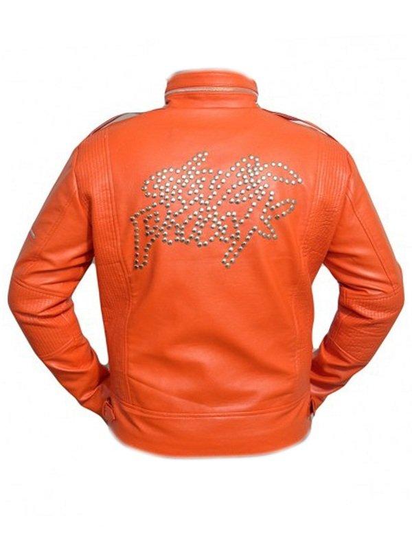 Daft Punk Stylish Orange Leather Jacket