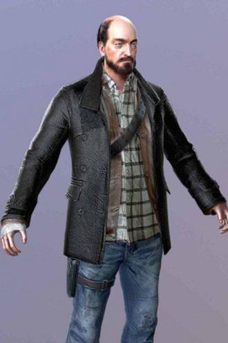 Dead Rising 4 Tom Pickton Costume Black Coat