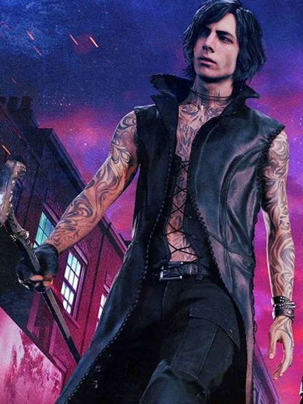 Video Game Devil May Cry 5 Kylo Ren Leather Coat