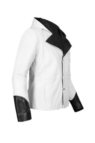 DMC Dante Cosplay Hoodie White Leather Jacket
