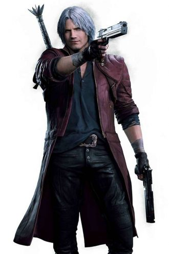 Game Devil May Cry 5 Dante Cosplay Costume Leather Coat
