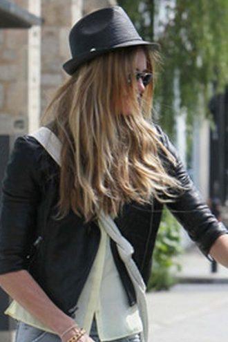 Elle Macpherson Black Biker Jacket