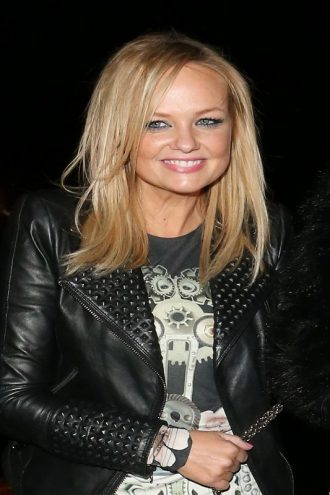 Emma Bunton Studded Design Leather Jacket