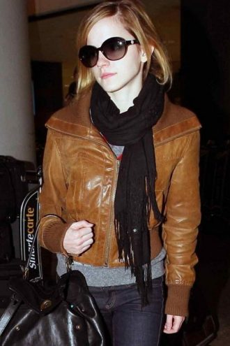 Emma Watson Leather Jacket