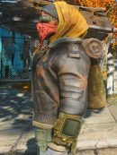 Game Fallout 4 The Boston Looter Distressed Leather Jacket