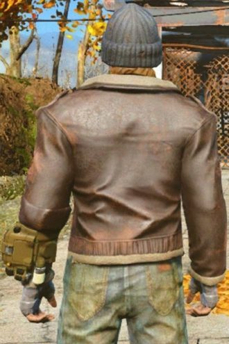 Game Fallout 4 The Boston Looter Leather Jacket