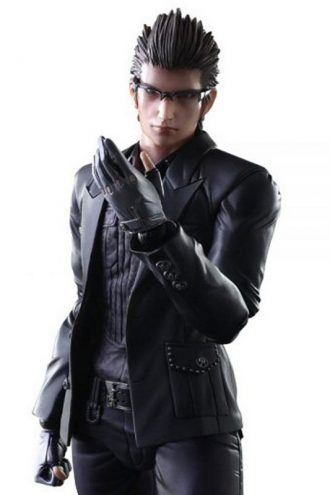 Final Fantasy 15 Video Game Ignis Scientia Black Leather Jacket