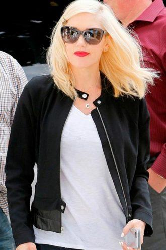 Singer Gwen Stefani Black Jacket