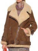 Hailey Rhode Bieber Shearling B3 Leather Jacket