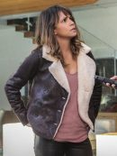 Halle Berry Extant Humanich Molly Leather Jacket