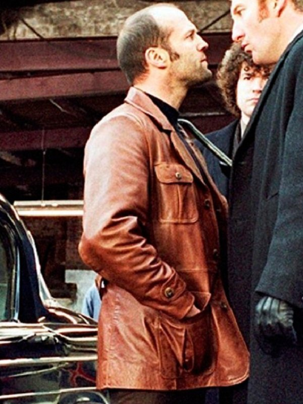 Terry The Bank Job Jason Statham Brown Leather Blazer