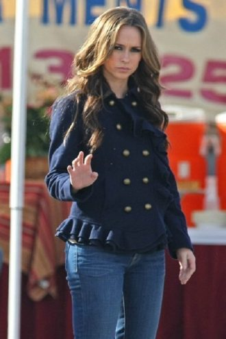 Jennifer Love Hewitt Blue Design Jacket