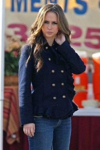 Jennifer Love Hewitt Elegant Design Blue Jacket