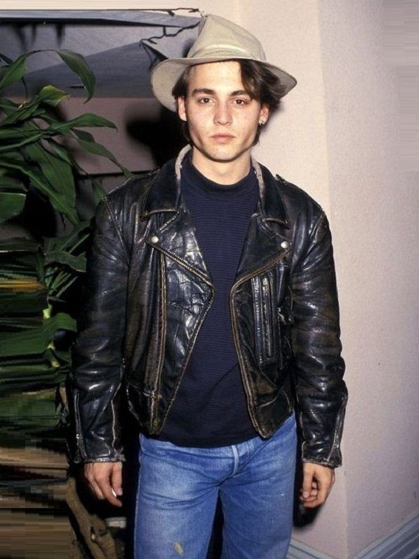 Johnny Depp Brando Biker Leather Jacket