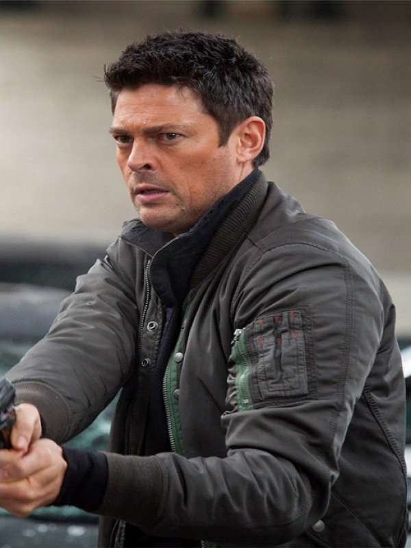 Karl Urban Almost Human Grey Cotton Jacket