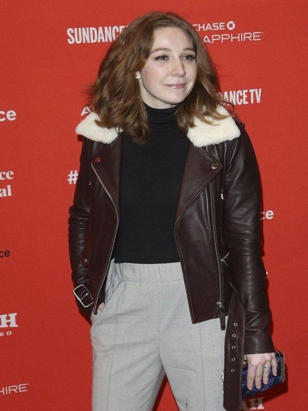 Kayli Carter Private Life Film Premiere Leather Jacket