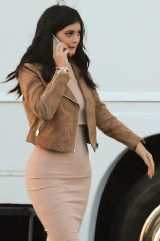 Kylie Kristen Jenner Brown Leather Jacket