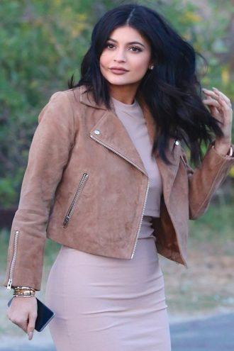 Kylie Jenner Brown Suede Jacket