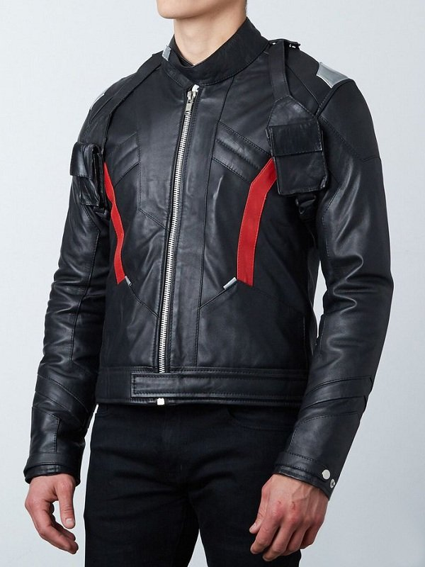 Mens Overwatch Soldier 76 Leather Costume Jacket