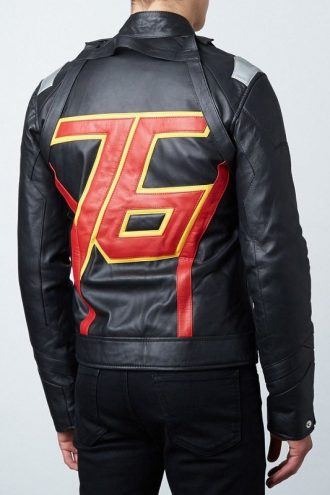 Soldier 76 Jet Black Leather Jacket