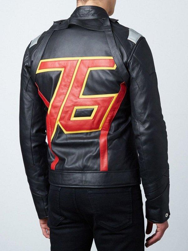 Soldier 76 Jet Black Leather Jacket