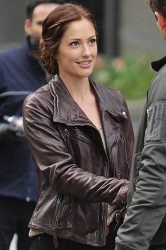 Almost Human Valerie Stahl Brown Leather Jacket