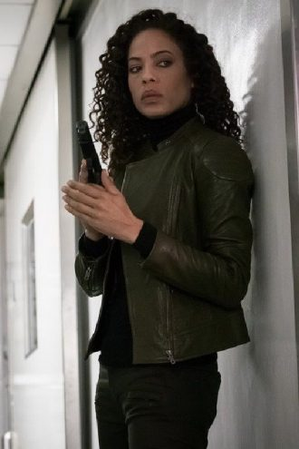 The Blacklist Redemption Nez Rowan Leather Jacket