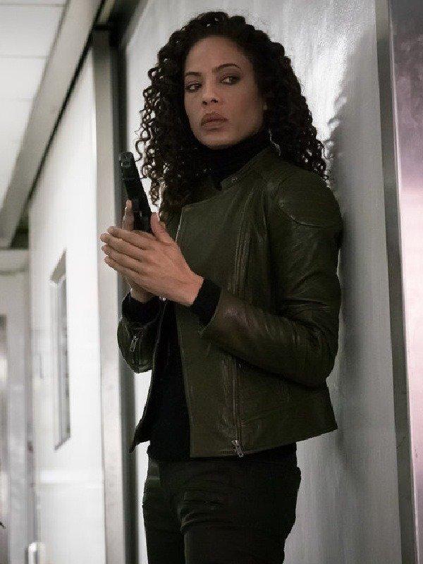 The Blacklist Redemption Nez Rowan Leather Jacket