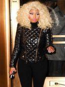 Nicki Minaj Black Quilted Jacket