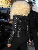 Rapper Nicki Minaj Black Leather Jacket