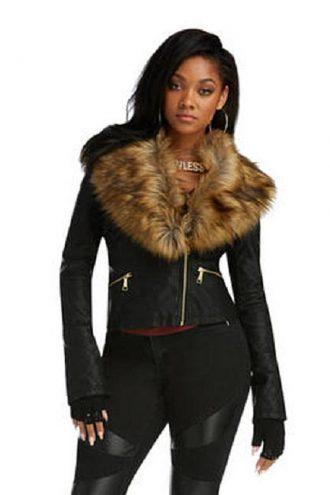 Nicki Minaj Fur Leather Jacket