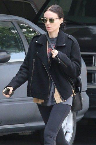 American Actress Patricia Rooney Mara Black Jacket