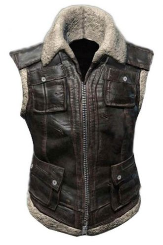 Playerunknowns Battlegrounds Leather Biker Vest