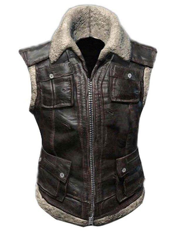 Playerunknowns Battlegrounds Leather Biker Vest
