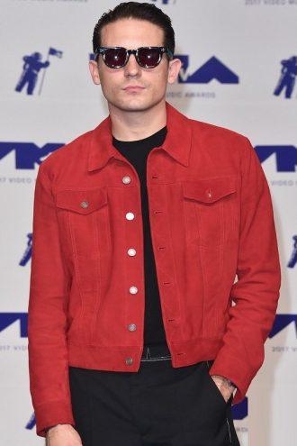 G-Eazy Stylish Red Suede Leather Jacket