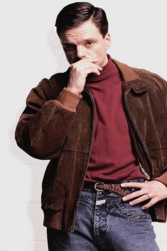 Sebastian Stan I Tonya Jeff Gillooly Bomber Brown Jacket